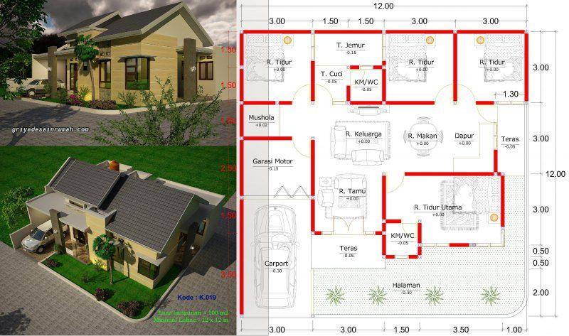 Gambar Denah Rumah Minimalis Type 100 Hook Jasa Desain Rumah Denah Rumah Rumah Desain Rumah