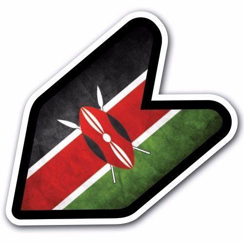 Grunge kenya jdm wakaba leaf flag decal sticker car macbook shoshinsha iphone customi
