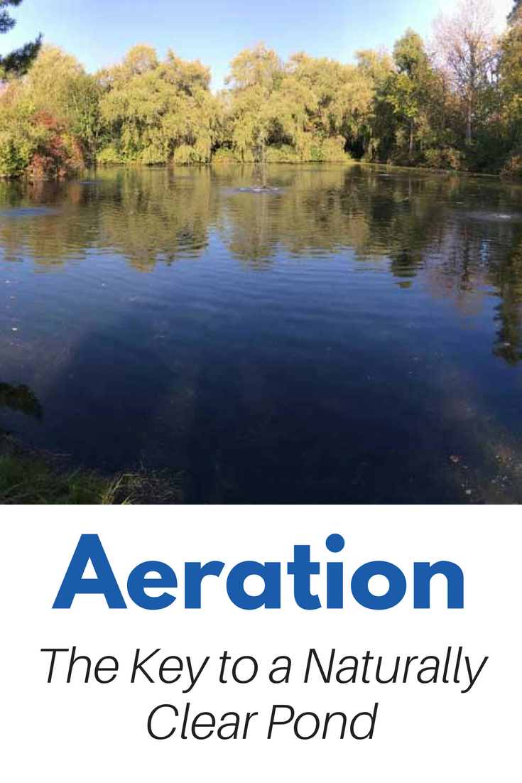 Large Pond Aeration - The key to a Natural, Clear, Healthy Pond Pond aeration, specifically subsurface pond aeration is the most important thing you can add your pond to improve water clarity, water quality and reduce algae and weed growth. The most effective way to aerate a large natural pond is to introduce diffused air directly into the water with a Subsurface Aeration System