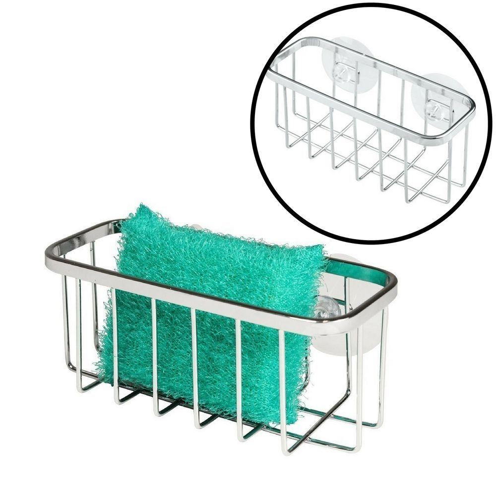 Kitchen Sink Sponge Holder Durable Stainless Steel Rack Plastic ...