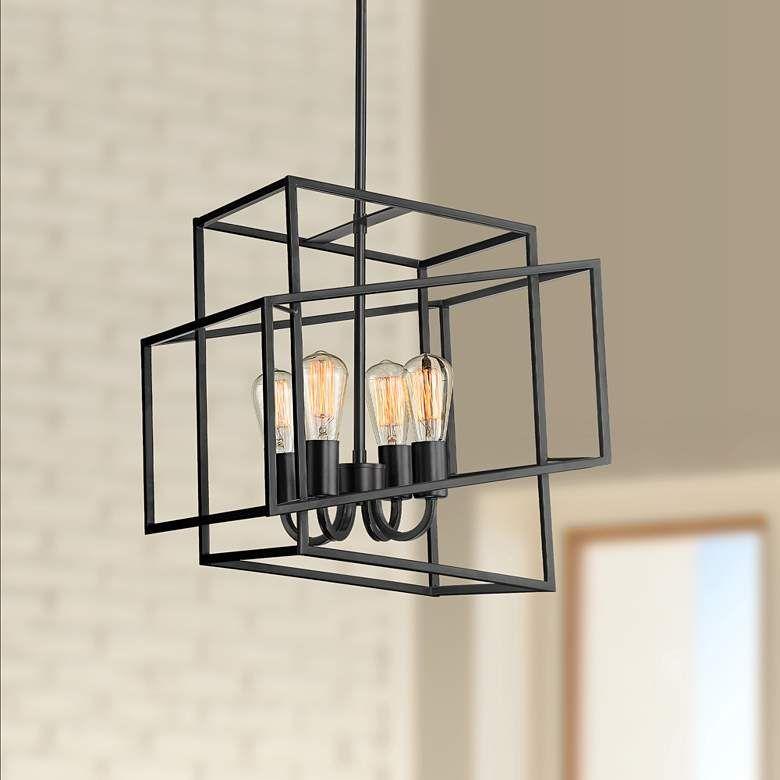 Possini Euro Rinaldi 15 3 4 W Bronze Light Cube Pendant