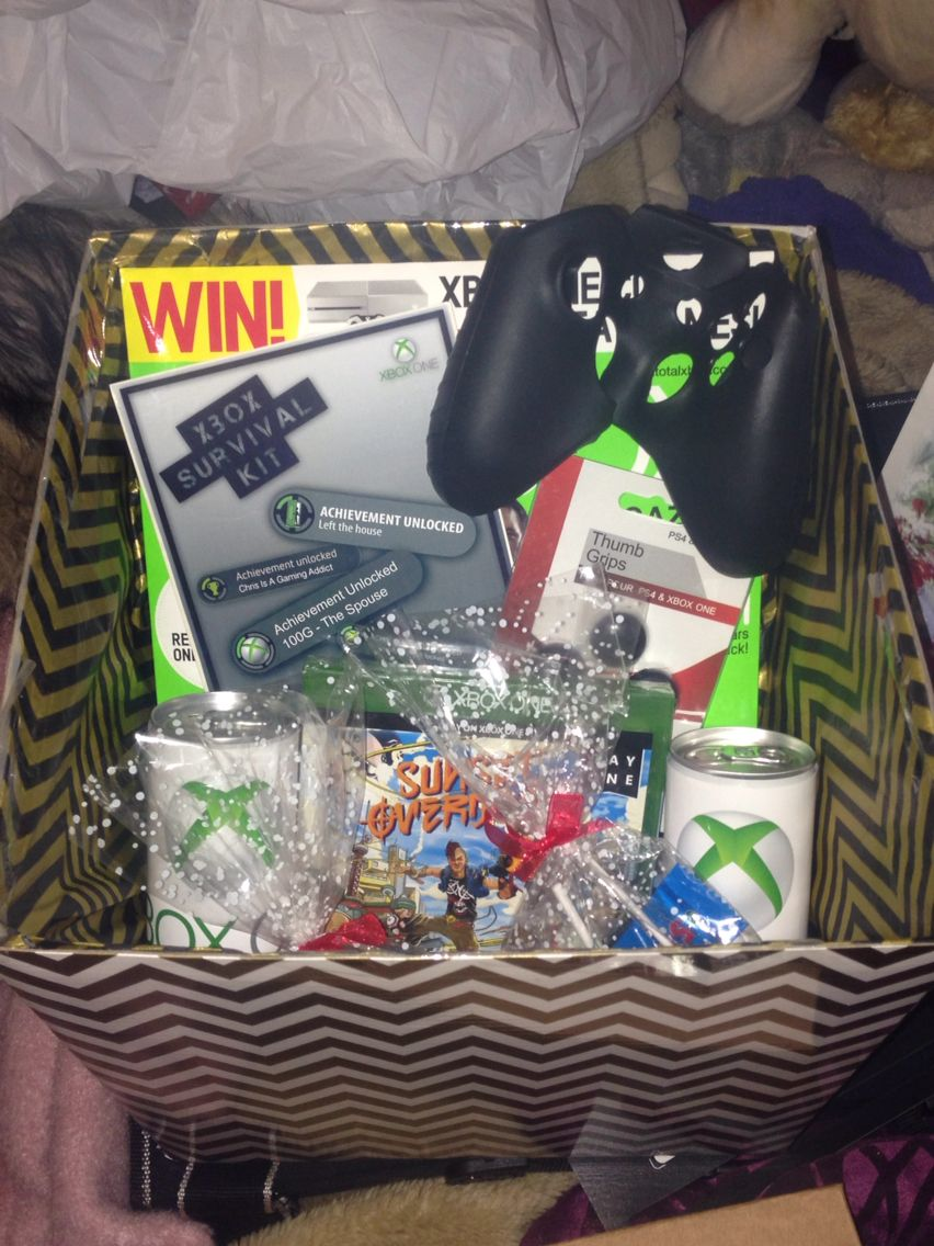 This Is My Boyfriends Christmas Gift What Better Then A Xbox Hamper Hope He Likes It Christmas Gifts Gifts For Gamer Boyfriend Gifts