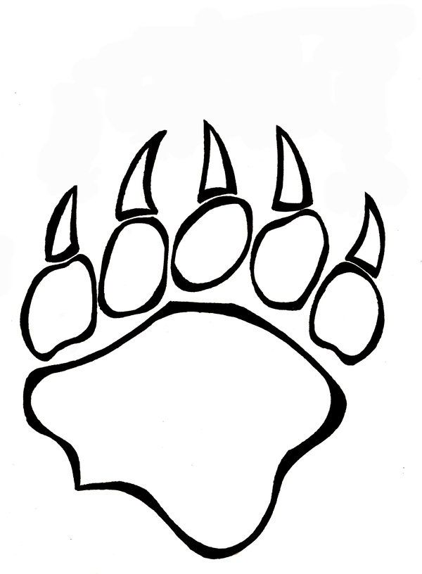 bear paw coloring page | tattoos | Pinterest | Osos y Líneas