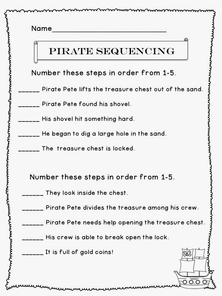 The Best Of Teacher Entrepreneurs Language Arts Pirate Sequencing Number Sense Worksheets Kindergarten Story Sequencing Worksheets Sequencing Worksheets 4th grade story sequencing worksheets