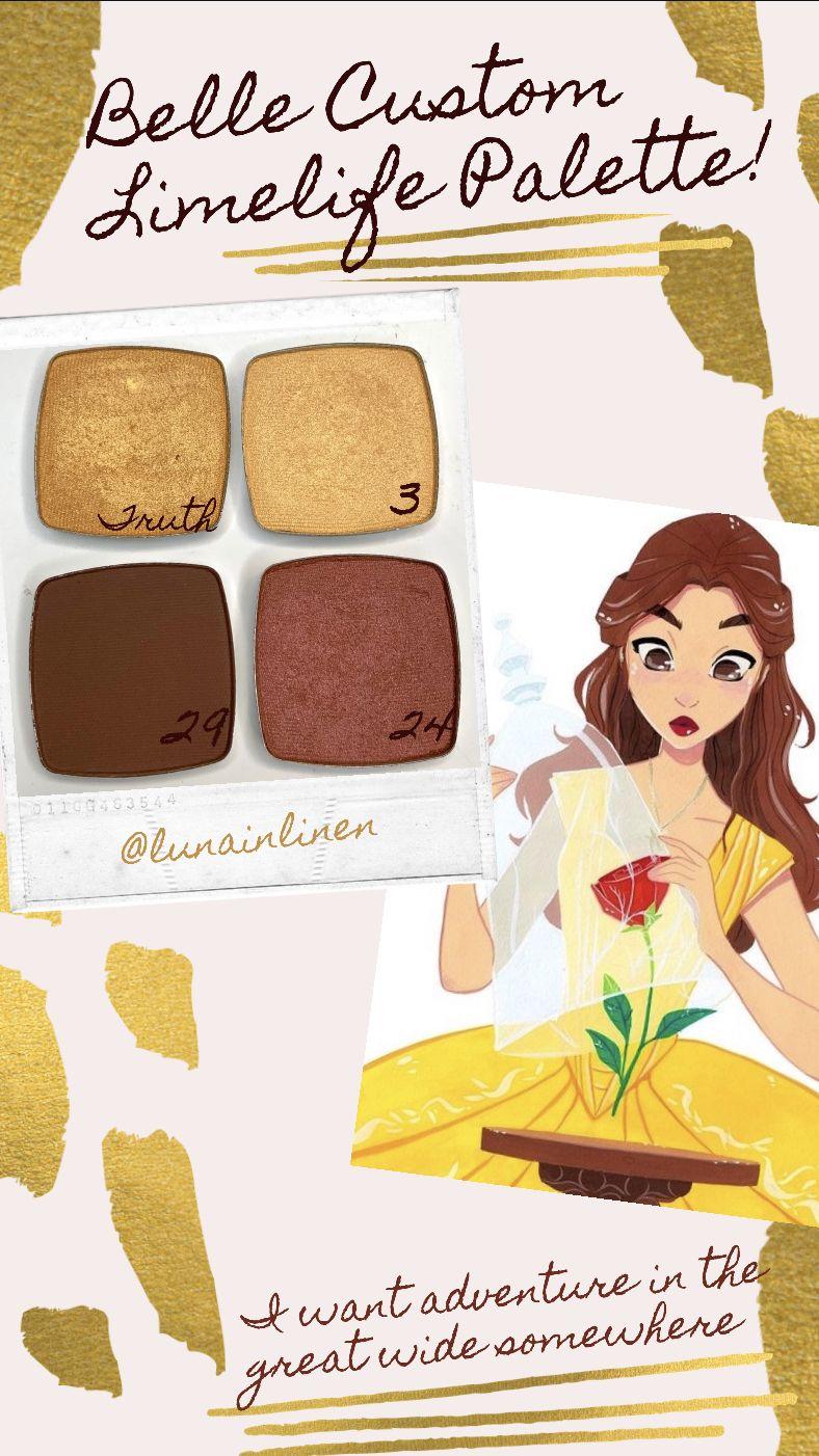 Belle Limelife Eyeshadow Palette! in 2020 Disney makeup