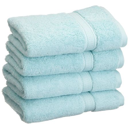 $28 Showcasing a lovely seafoam hue, this luxe Egyptian cotton hand towel offers a cozy complement to your invigorating morning showers.
