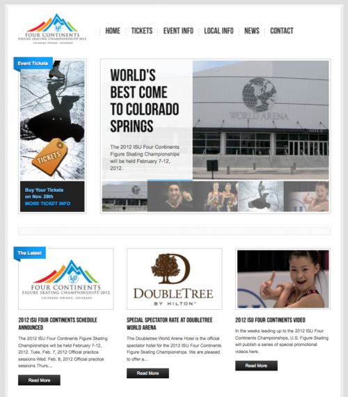 Check Out Our New Event Website Design For U S Figure Skating In Colorado Springs Co Website Design Event Website Seo Social Media