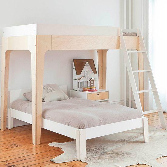 Oeuf Etagenbett Perch Bunk In Birke Weiss Kinder Zimmer