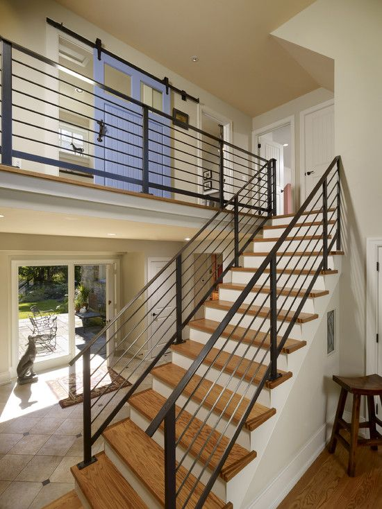 Eclectic Staircase Design Ideas Pictures Remodel And Decor Stairs Design Modern Modern Stair Railing Stair Railing Design