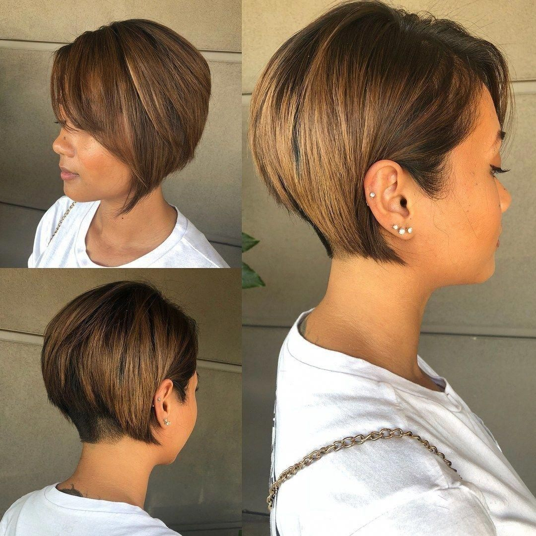 98 Amazing Trendy Short Bob Pixie Haircuts For 2020 Black Haircut Styles Nape Undercut Short Hair With Layers