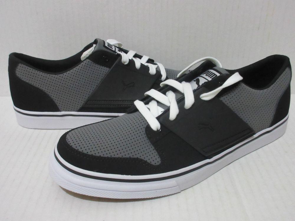 buy online 01445 24ee3 Puma EL Ace 2 PN Men s Casual Shoes Sz.10.5 Steel  Grey- Black 353101 09   PUMA  CasualSneakers