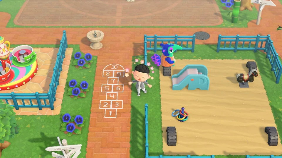 I Made A Hopscotch Design For 2 Wide Paths Creator Id Ma 7503 9000 8210 Acqr In 2020 Animal Crossing Animal Crossing Qr Qr Codes Animal Crossing