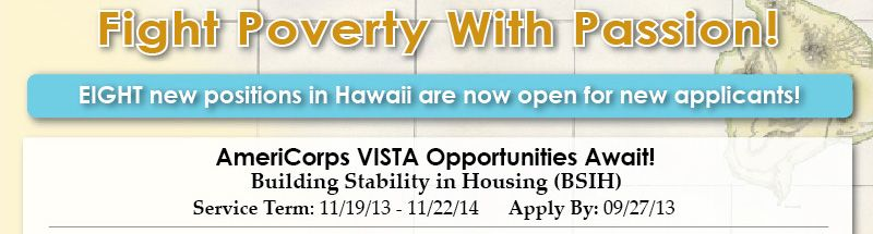 Fight Poverty With Passion Americorps Hawaii Fight Poverty Americorps Americorps Vista