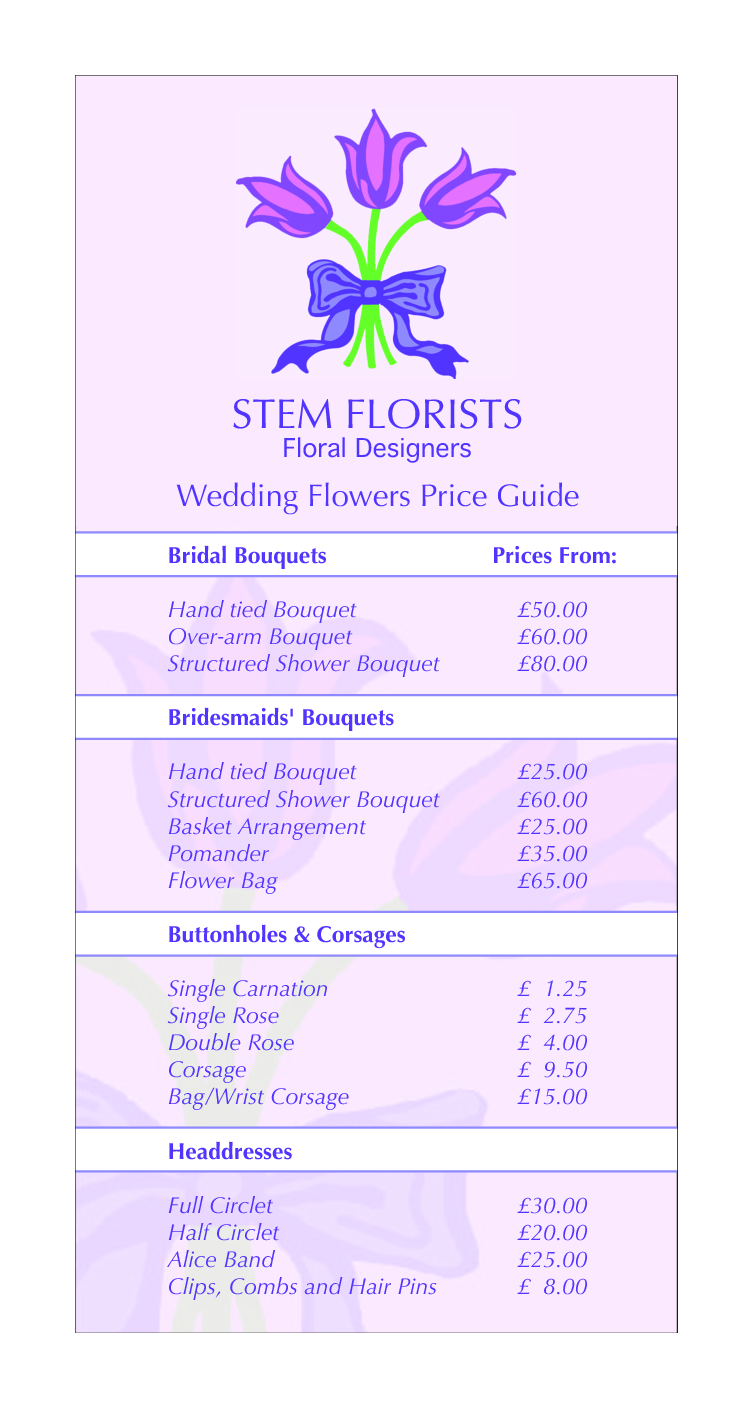Splendid Wedding Bouquet Prices