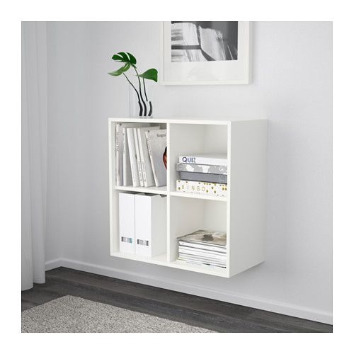 Eket Cabinet With 4 Compartments White Ikea Eket Wall Mounted Shelves Wall Mounted Shelving Unit