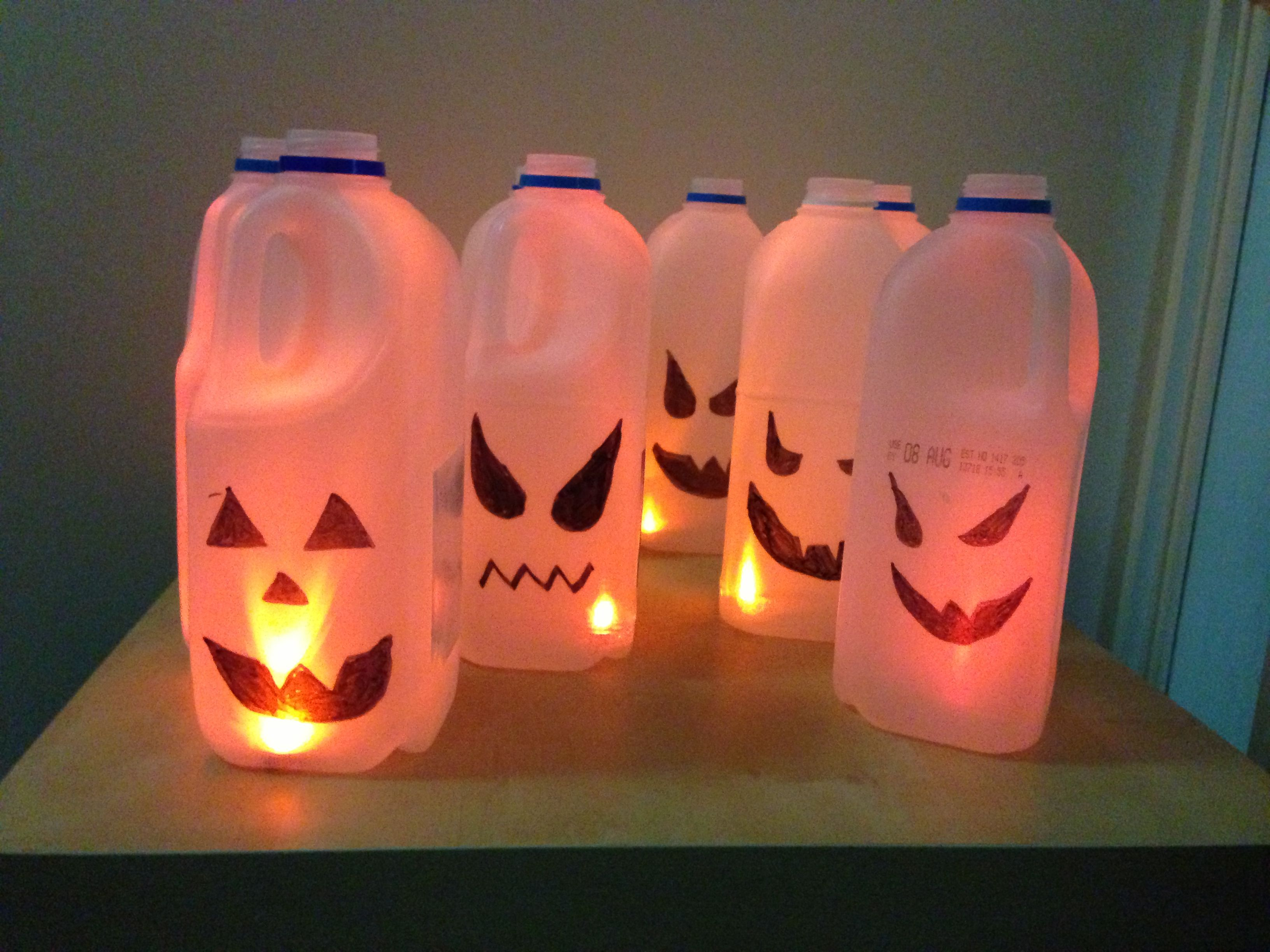Milk Carton Halloween Crafts Part - 19: Our Super Spooky Party Dots Halloween Milk Carton Lanterns