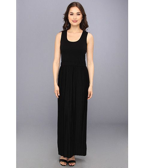 Calvin Klein Calvin Klein  Pleated Maxi Dress Black Womens Dress for 59.99 at Im in!