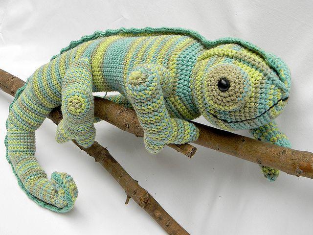 Chamäleon Häkeln Crochet Pinterest