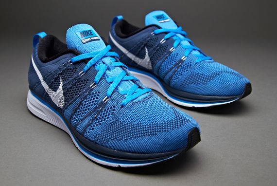 34fadc7f Nike Flyknit Trainer + - Unisex Running Shoes - Blue-White-Blue ...