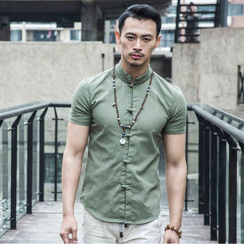 00a012dd1d7 2015 Traditional Chinese Men's Linen Shirt Tops dress shirt Men Shirt  Camisas Hombre Chemise Homme Camisa Slim Fit Men Clothes