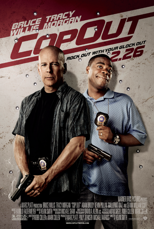 Movies Starring Bruce Willis   ... movie Cop Out starring Bruce Willis and tracy Morgan 2010 Movie Poster