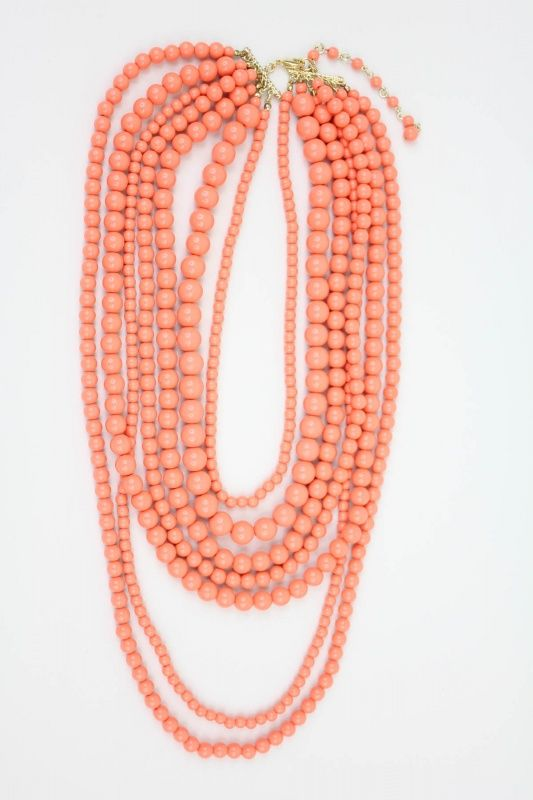 Layered Coral Necklace