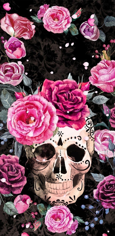 Pin By Dina Hamlett On Skulls Skull Wallpaper Sugar Skull