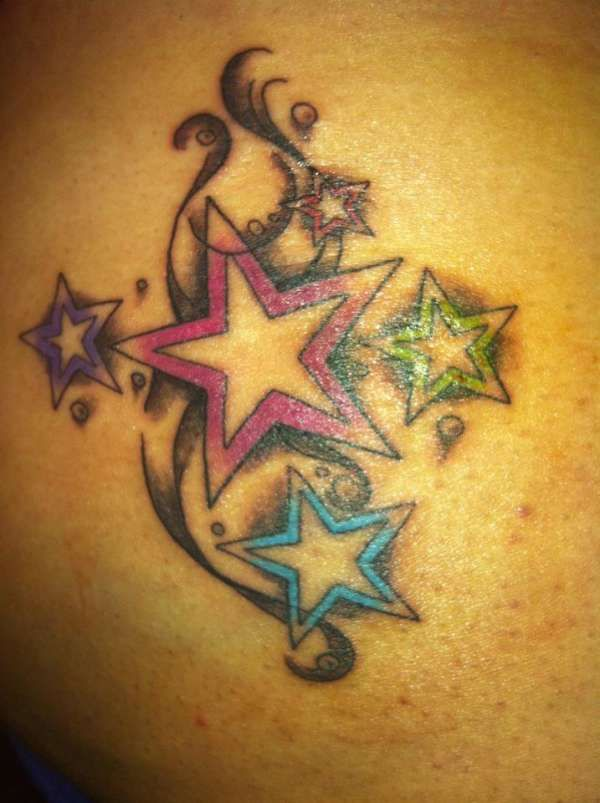 Girl+Tattoos+Angel+For+Women+Small+Name+Cover+Up+Stars
