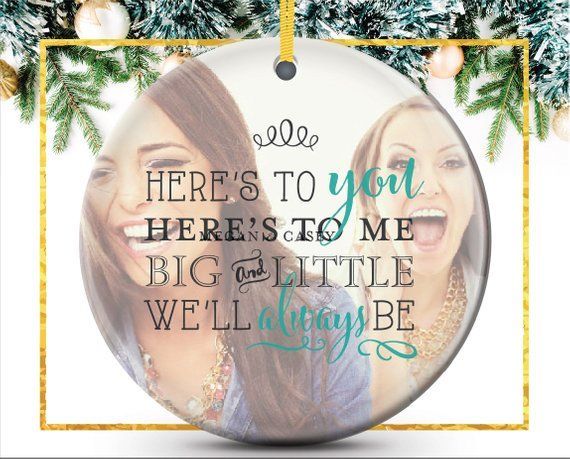 Sorority Ornament, Big and Little Christmas Gift, photo ornament ...