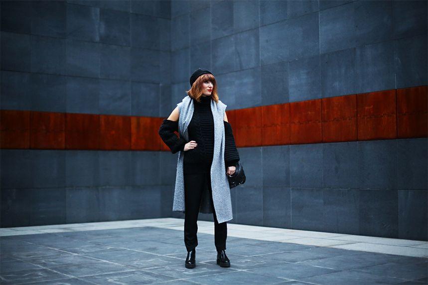 Go vest! Grey vest always on fashion!