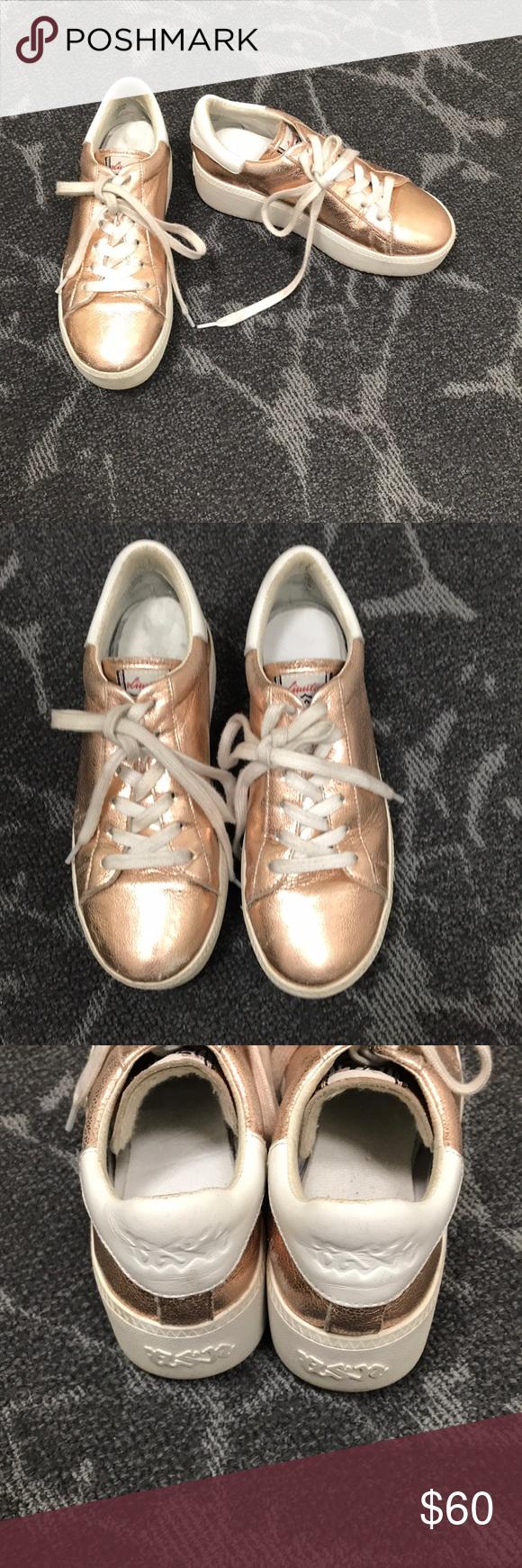 54b2e5b12ab4 Ash sneakers Cute rose gold platform sneakers Ash Shoes Platforms ...