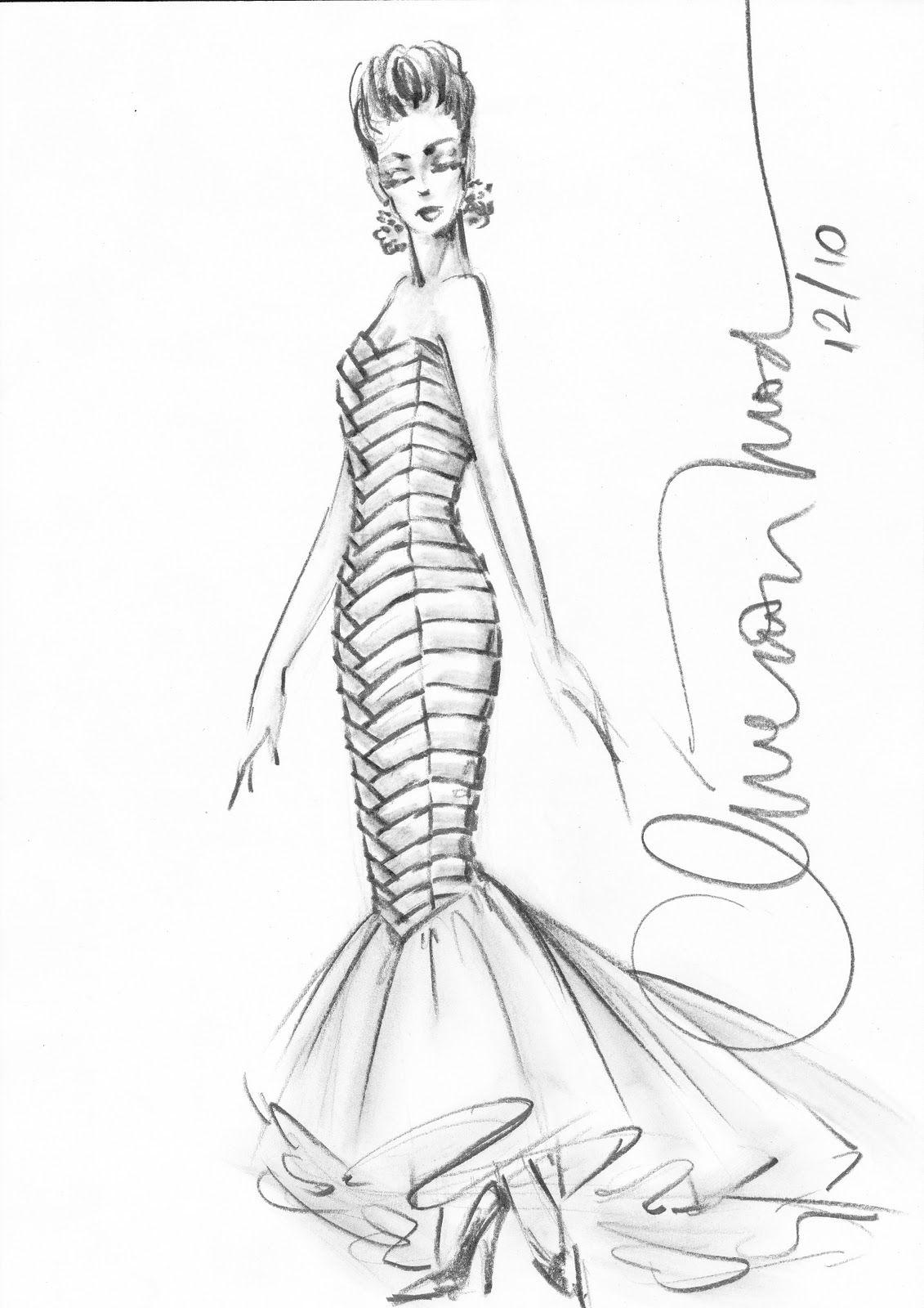 Desenhos De Moda Desenhos De Moda Ilustracao Vestido E Estilos