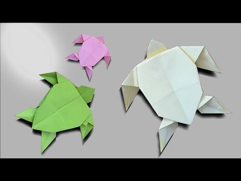 Origami Sea Turtle/折り紙タートル/How to make an easy turtle ... | 360x480