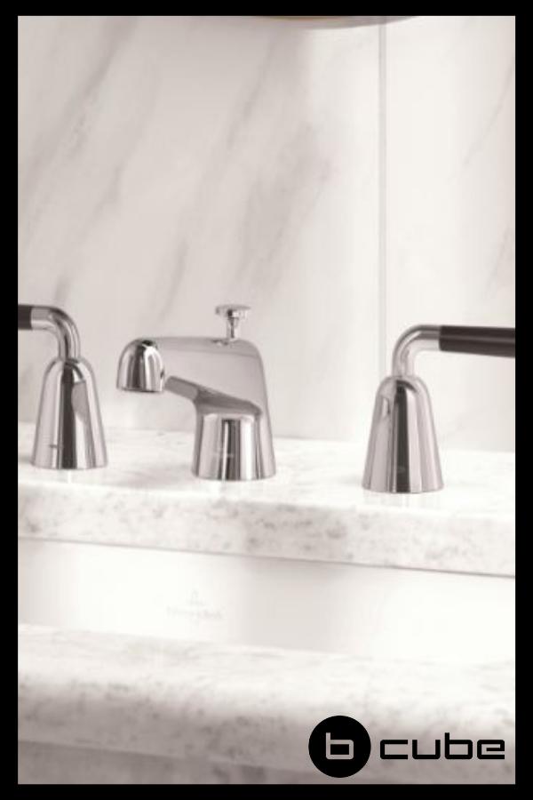 Die Villeroy Boch Domicil Armaturen Uberzeugen Durch Ein Sehr Extravagantes Design Villeroy Boch Armatur Waschtisch Villeroy Wannengriff Badetuchhalter