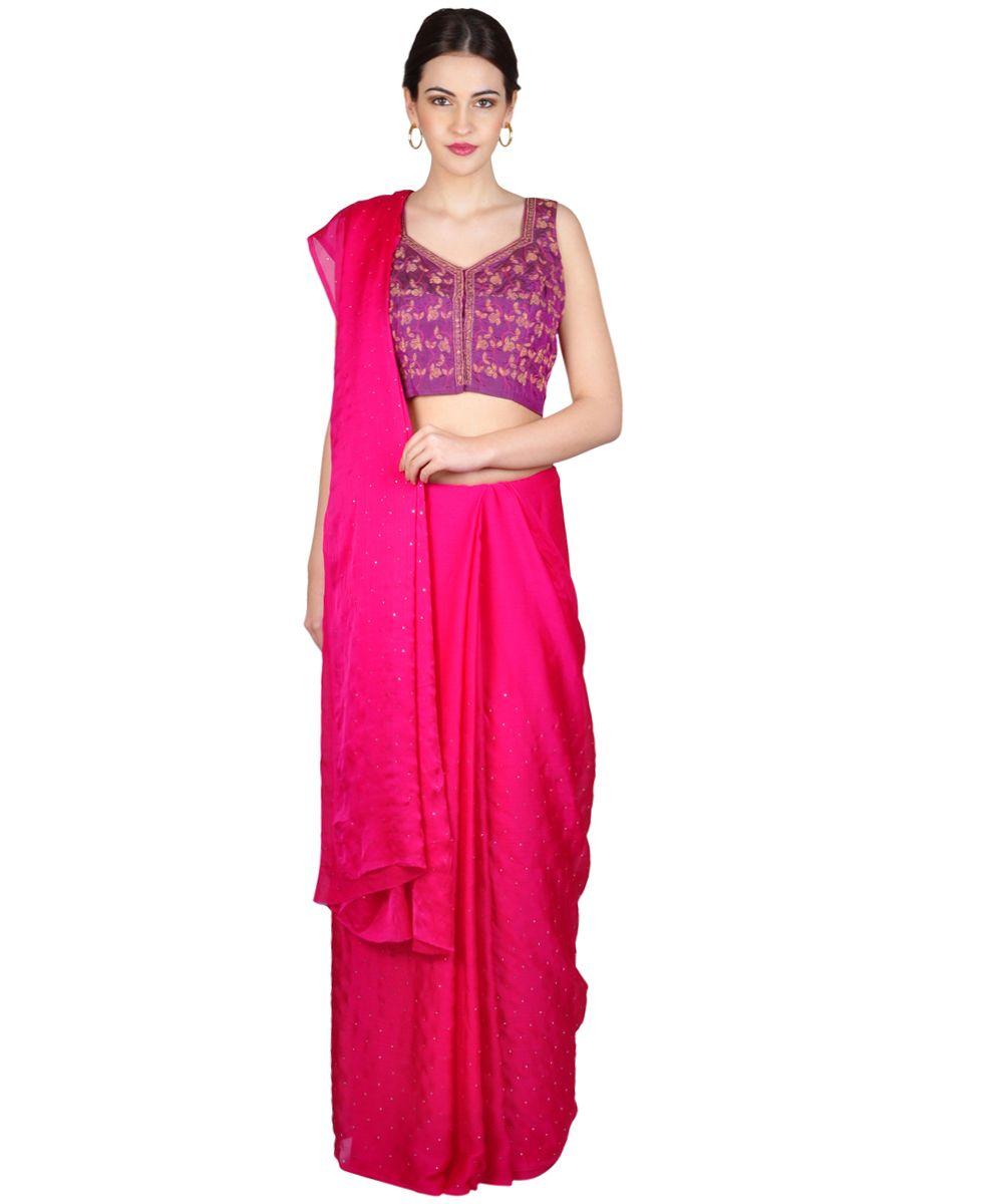 Floral Design Embroidered Blouse   Tt-9520   Talkingthreads   Global Online Boutique   Buy Finest Embroidered Sarees   Salwar Kameez   Dupattas   Shawls   Kurtis   Tops   Tunics
