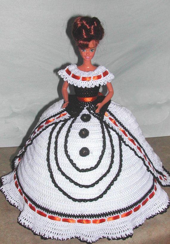 Crochet Fashion Doll Barbie Pattern- #627 SOUTHERN DESIGN #10 ...