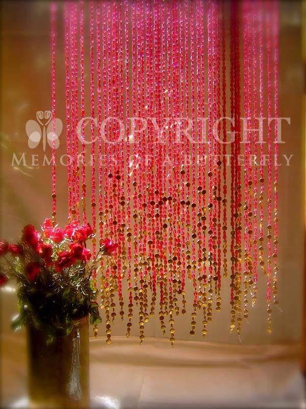 Pomegranate Beaded Curtain Would Be Pretty If They Were Longer