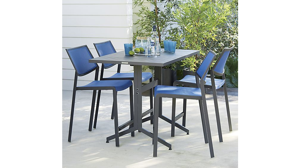 Largo Fliptop High Dining Table Crate And Barrel High Dining Table Outdoor Dining Outdoor Dining Table