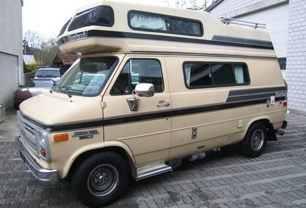 CHEVROLET Van G20 Alkoven Horizon 170 Camper 4,3 V6 Aut. 1985, AHK mit 1590 kg Anhängelast, frisch- und ab- Wassertank