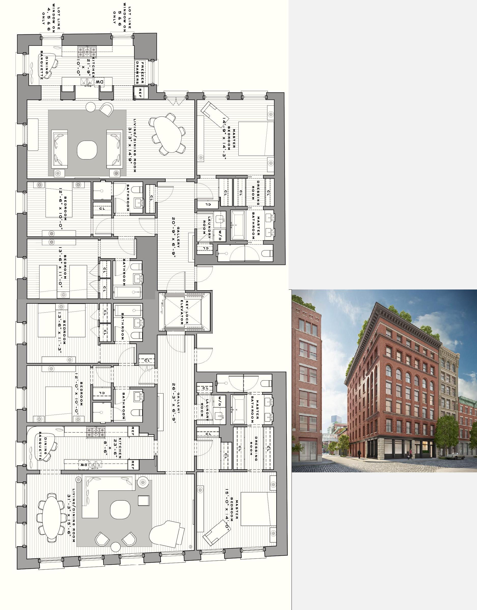 Seven Harrison Tribeca 6th Floor Condo Floor Plans Apartment Floor Plans Penthouse Apartment Floor Plan