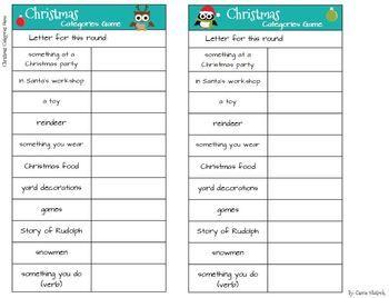 English teaching worksheets: Scattergories