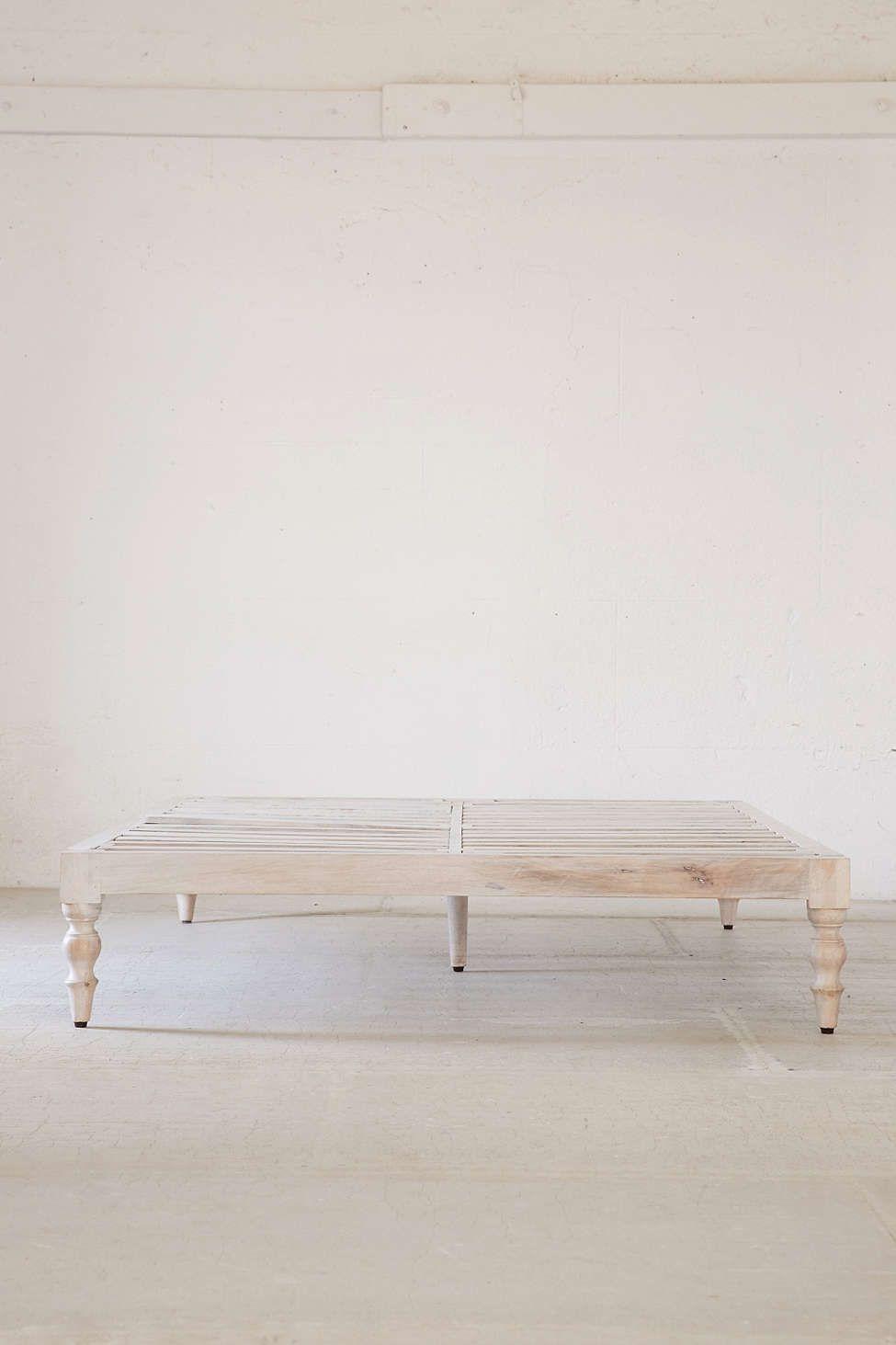 Bohemian Platform Bed   Wooden platform bed, Wood platform ... on Modern Boho Bed Frame  id=96588