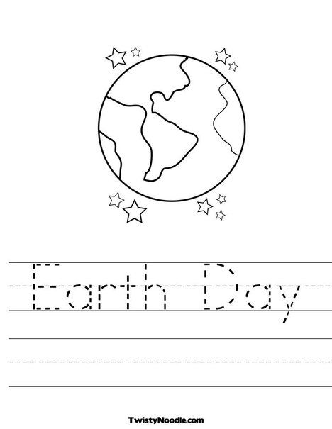 Earthday Worksheet Twisty Noodle Preschool Theme Earth Day