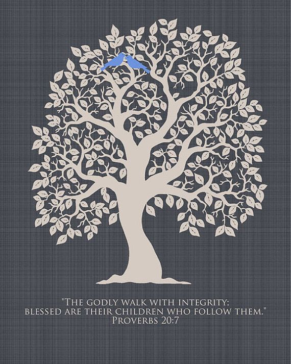 Verse Family Tree Print Wedding Gift By Thefreckledowlprints