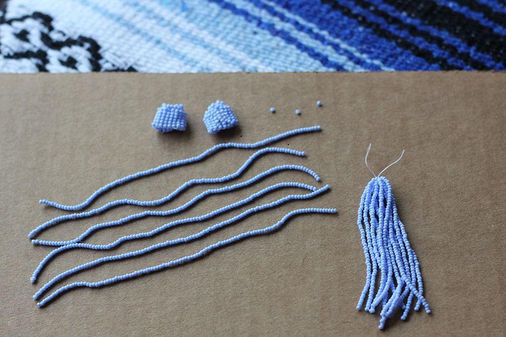 Diy Tassel Earrings Beaded Tassels Diy Diy Tassel Earrings