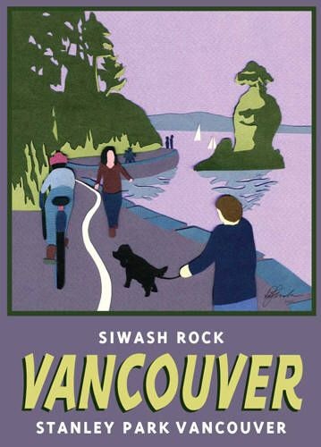 Artist: BC Collection Travel Series, Title: Siwash Rock Vancouver - click for larger image