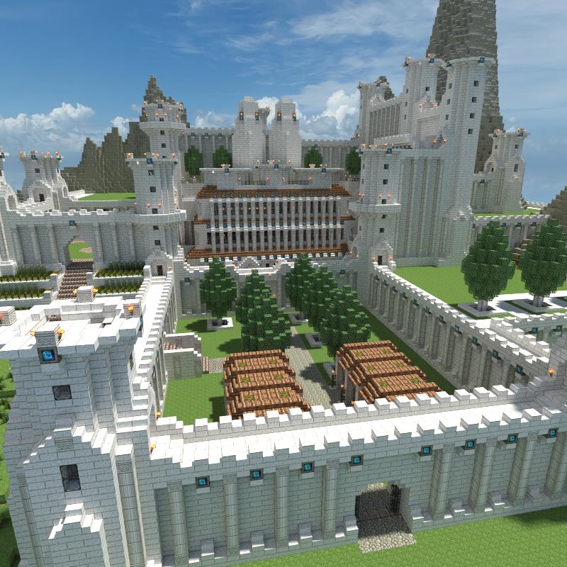 как строить замки в майнкрафте #10