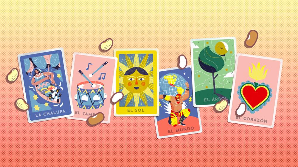 Celebrating Lotería! Doodles