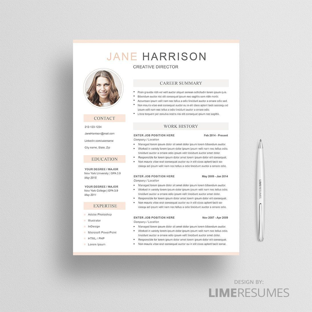 2 page resume template with photo is exactly what you need