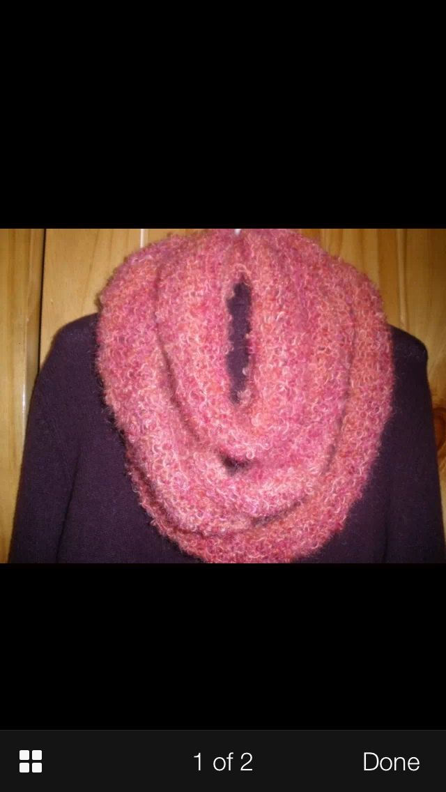 Mohair infinity scarf by Gypsie on Etsy